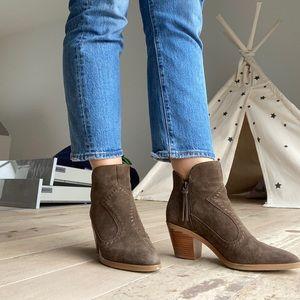 Rebecca Minkoff Western Lulu Boots olive size 8